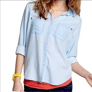 Nordstrom rubbish chambray button up shirt
